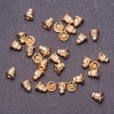 Фурнитура Заглушки для сережек пара, диаметр 5мм, длина 6мм цвет металла золото фас.80шт