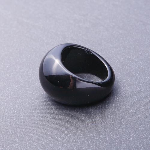 Кольцо перстень из натурального камня Черный Агат, размеры 20-23